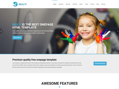 Multi - Free Responsive OnePage HTML Template