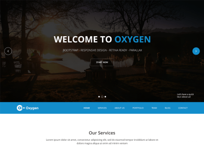 Oxygen - Bootstrap One Page Theme