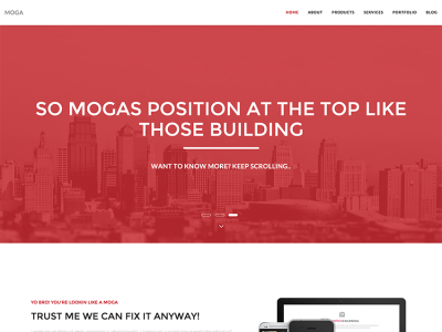 Moga - One Page Multipurpose HTML5 Template