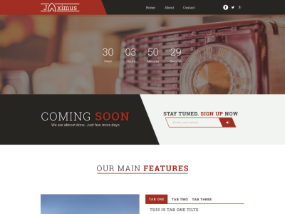 Jaximus - Responsive coming soon template