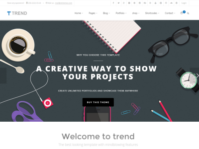 Trend - Multi-Purpose HTML5 HTML Theme with Page Builder