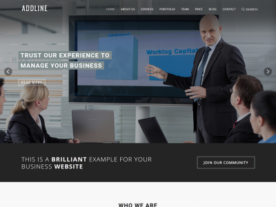 Addline-Responsive one page template