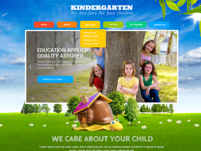 KinderLand - Bootstrap parallax responsive template
