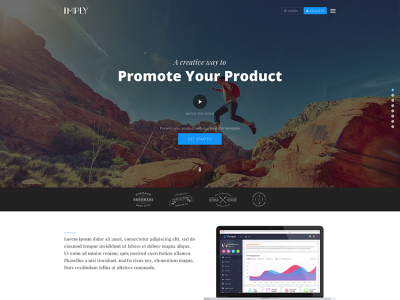 Imply - Responsive Startup Landing Page