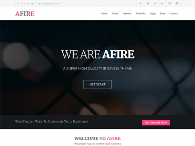 Afire - Multipurpose Business Theme