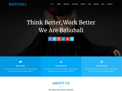 Bahubali - Responsive Business Template