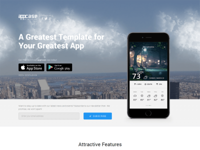 appCase - Responsive App Landing Page