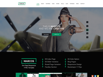 MARCOS - ONE PAGE RESPONSIVE HTML TEMPLATE