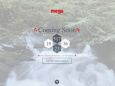 Mega - Coming Soon Template