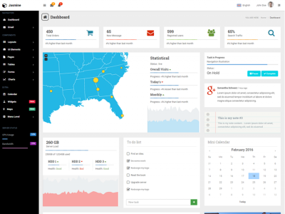Jasmine - Bootstrap Admin Template
