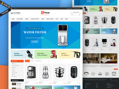 Focus Responsive eCommerce Template.