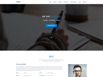 Verny - Material Design Personal Template
