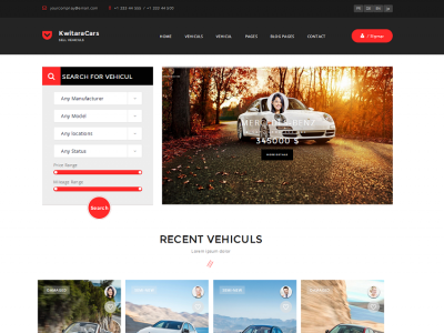 KwitaraCars - Bootstrap Cars Dealer Template
