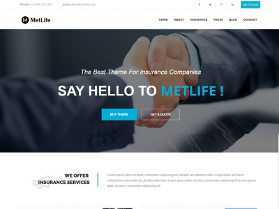MetLife - Insurance HTML Template