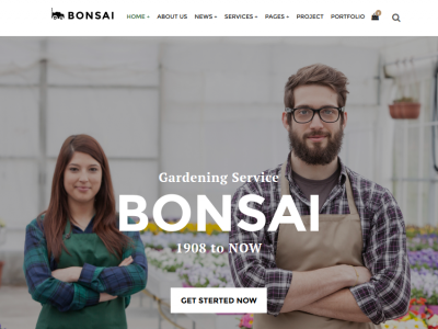 Bonsai - HTML Template for Landscapers & Gardeners