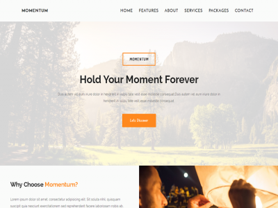 Momentum - a photography template