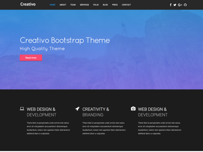 Creativo - Bootstrap Responsive Template Landing Page