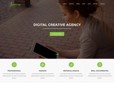 Greatway - Material Design Agency Template