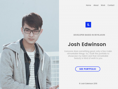 Person - Creative Split Screen Portfolio Template