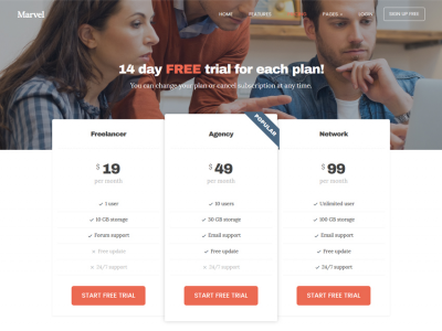 Marvel - Free Bootstrap 3 HTML5 Website Template for Product Promotion