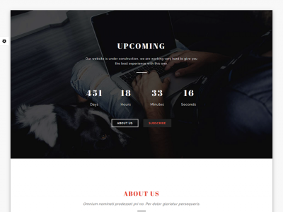 UPCOMING - Simple Coming Soon Template