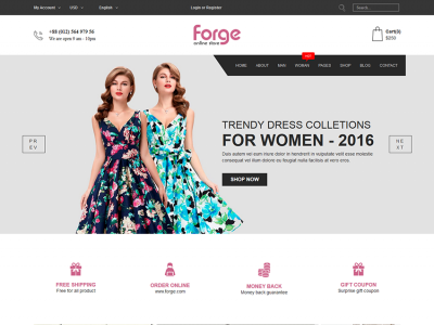 Forge - eCommerce Fashion Template