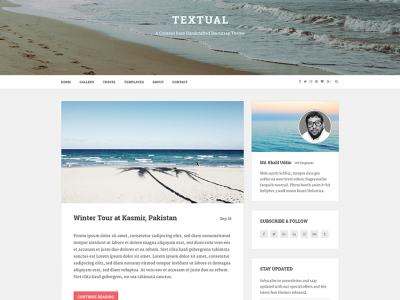 Textual - A Content-based Handcrafted Bootstrap Theme