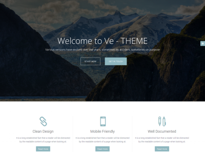Ve-Theme - Responsive Multipurpose HTML Site Template