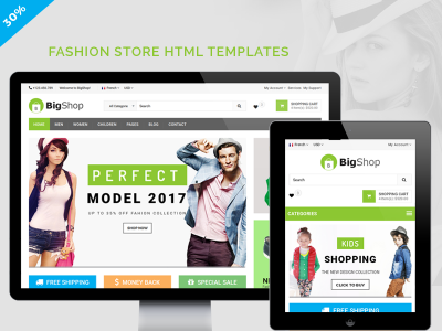 BigShop | Multipurpose Ecommerce HTML5 Template