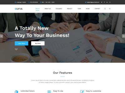 Sufia - Free Corporate HTML5 Bootstrap Template
