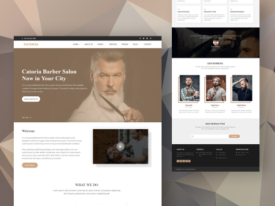 Cutoria - Barber & Salon HTML Template
