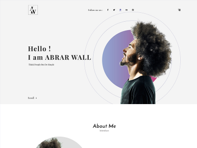 Abrar Wall Resume Template