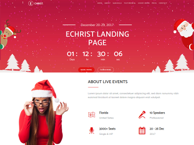Echrist - Multipurpose Responsive Event Landing Page