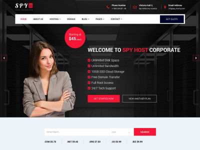 SPY - Hosting Multipurpose HTML5 Template