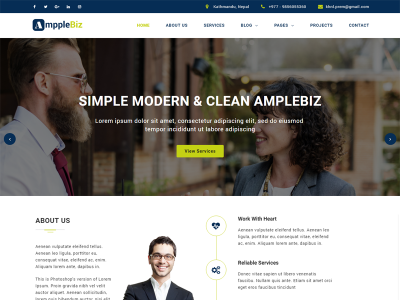 Amplebiz- Corporate HTML5 Template