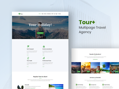 Tour+ - Multipage Travel agency Template