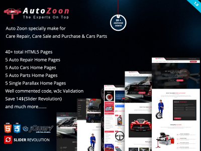 Auto Zoon - Auto Repair Multipurpose Bootstrap Template