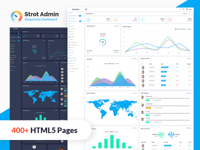 Strot Admin - Responsive Admin Dashboard Template
