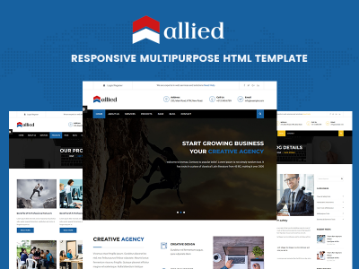 Allied - Responsive Multipurpose HTML Template