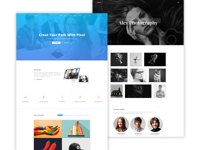 Pixal - Free Creative Multipurpose HTML Template
