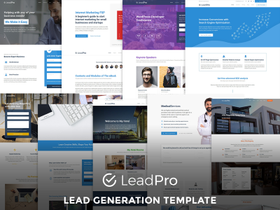 LeadPro - Lead Generation Responsive Template