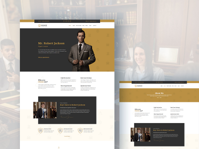 Adalot - Personal Lawyer Bootstrap4 Template