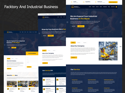 Fakobuz - Facktory And Industrial Business Company HTML5 Template