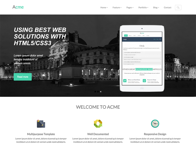 Acme - Free Responsive Corporate Template