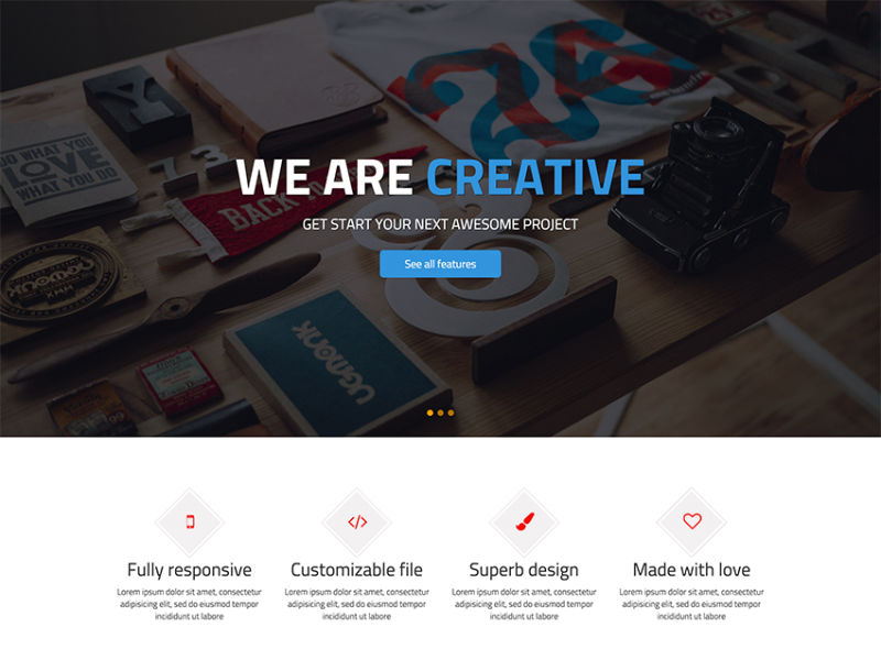 Fimply - Free One Page HTML Website Template