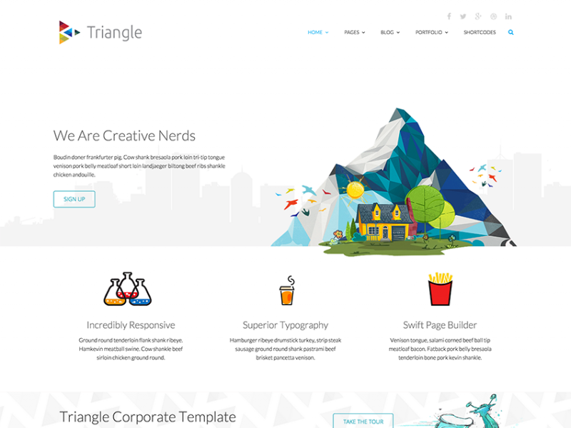 Triangle - Free Responsive Creative Template