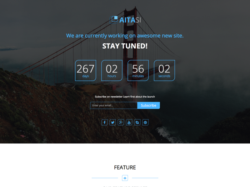 Aitasi - Responsive HTML Under Construction Page