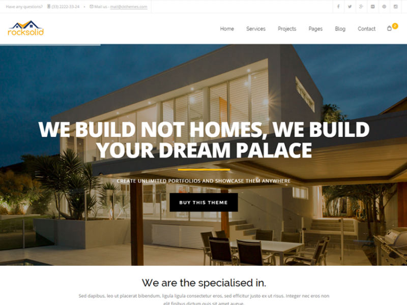 RockSolid - Construction Responsive Template