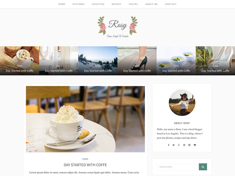 Rosy - Beautiful HTML5 Blog Template