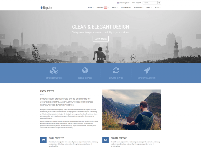Repute - Responsive Multipurpose Business Theme